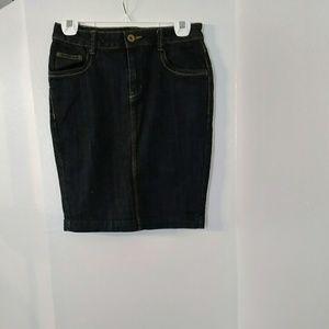 Denim Slim Skirt